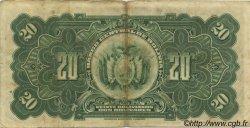 20 Bolivianos BOLIVIE  1928 P.122a TB