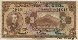 20 Bolivianos BOLIVIE  1928 P.122a TTB+