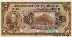 20 Bolivianos BOLIVIE  1928 P.122s NEUF