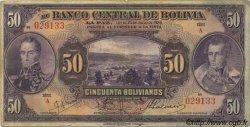 50 Bolivianos BOLIVIE  1928 P.123 B+