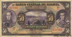 50 Bolivianos BOLIVIE  1928 P.123 TTB