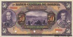 50 Bolivianos BOLIVIE  1928 P.123s NEUF
