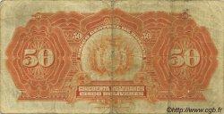 50 Bolivianos BOLIVIE  1928 P.124 pr.TB