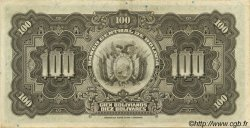 100 Bolivianos BOLIVIE  1928 P.125 SUP