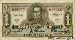 1 Boliviano BOLIVIE  1928 P.128a TTB
