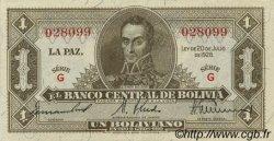 1 Boliviano BOLIVIE  1928 P.128a pr.SPL