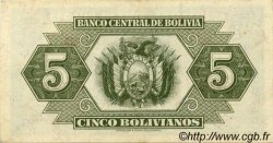 5 Bolivianos BOLIVIE  1928 P.129 SUP