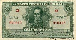 5 Bolivianos BOLIVIE  1928 P.129 SPL