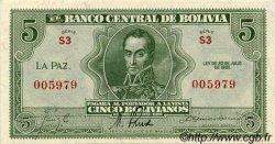 5 Bolivianos BOLIVIE  1928 P.129 pr.NEUF