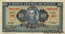 10 Bolivianos BOLIVIE  1928 P.130 TTB+