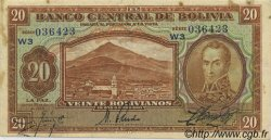 20 Bolivianos BOLIVIE  1928 P.131 TTB+