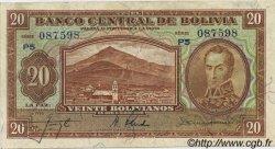 20 Bolivianos BOLIVIE  1928 P.131 SPL