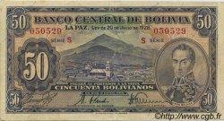 50 Bolivianos BOLIVIE  1928 P.132 SUP