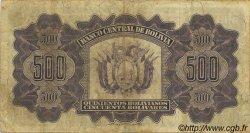 500 Bolivianos BOLIVIE  1928 P.134 TB