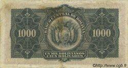 1000 Bolivianos BOLIVIE  1928 P.135 TTB