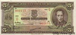 5 Bolivianos BOLIVIE  1945 P.138a pr.NEUF