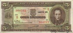 5 Bolivianos BOLIVIE  1945 P.138c SPL