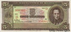 5 Bolivianos BOLIVIE  1945 P.138d pr.NEUF