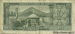 10 Bolivianos BOLIVIE  1945 P.139b TB