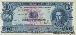 10 Bolivianos BOLIVIE  1945 P.139b SUP+