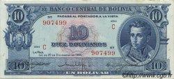 10 Bolivianos BOLIVIE  1945 P.139c SUP