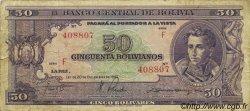 50 Bolivianos BOLIVIE  1945 P.141 pr.TB