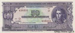 50 Bolivianos BOLIVIE  1945 P.141 NEUF