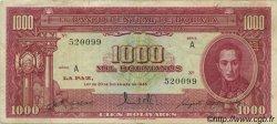 1000 Bolivianos BOLIVIE  1945 P.144 TTB