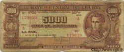 5000 Bolivianos BOLIVIE  1945 P.145 pr.B