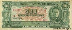 500 Bolivianos BOLIVIE  1945 P.148 TB+