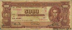 5000 Bolivianos BOLIVIE  1945 P.150 B