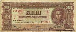 5000 Bolivianos BOLIVIE  1945 P.150 TB