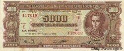 5000 Bolivianos BOLIVIE  1945 P.150 TTB+