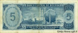 5 Pesos Bolivianos BOLIVIE  1962 P.153a TTB+