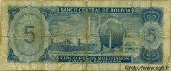 5 Pesos Bolivianos BOLIVIE  1962 P.153a B