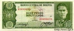 10 Pesos Bolivianos BOLIVIE  1962 P.154a TTB à SUP