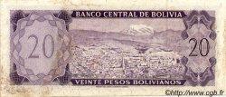 20 Pesos Bolivianos BOLIVIE  1962 P.161a TTB à SUP