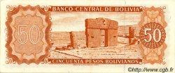 50 Pesos Bolivianos BOLIVIE  1962 P.162a SUP+