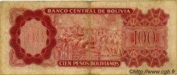 100 Pesos Bolivianos BOLIVIE  1962 P.163a B+