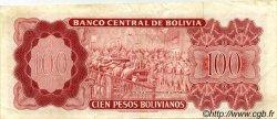 100 Pesos Bolivianos BOLIVIE  1962 P.163a TB à TTB