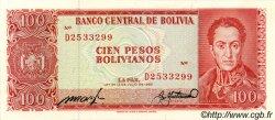 100 Pesos Bolivianos BOLIVIE  1962 P.163a SPL