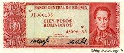 100 Pesos Bolivianos BOLIVIE  1962 P.163r NEUF