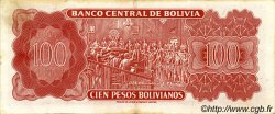 100 Pesos Bolivianos BOLIVIE  1962 P.164a SUP
