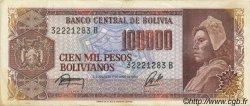100000 Pesos Bolivianos BOLIVIE  1984 P.171a TTB+