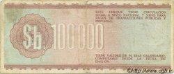 100000 Pesos Bolivianos BOLIVIE  1984 P.188 TB