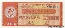 5000000 Pesos Bolivianos BOLIVIE  1985 P.191a pr.NEUF