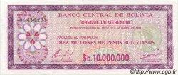 10000000 Pesos Bolivianos BOLIVIE  1985 P.194a pr.SPL