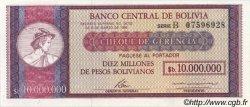 10 Bolivianos sur 10000000 Pesos Bolivianos BOLIVIE  1987 P.201 NEUF