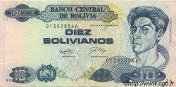 10 Bolivianos BOLIVIE  1987 P.204a SUP+