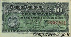 10 Centavos COLOMBIE  1885 P.181 SPL
